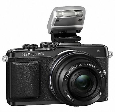 Olympus E-PL7 16MP Mirrorless Digital Camera with 14-42mm 2R Lens (Black)