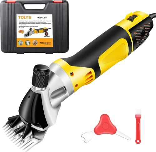 Tolys ST04 380W Adjustable 6-Speed Sheep Alpaca Clippers Shears - New Open Box