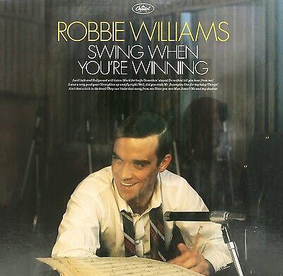 "ROBBIE WILLIAMS ""SWING WHEN YOU'RE WINNING"" LP VINYL NEW"