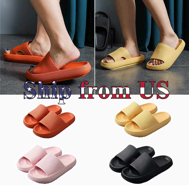 Pillow Slides Anti-Slip Sandals Ultra Soft Slippers Cloud Sh