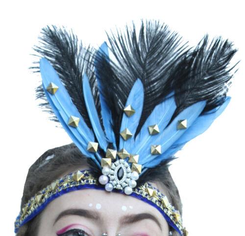 +Fairy+Goddess+Blue+Feather+Head+Dress+Headband+Festival+Secret+Garden+Fae+