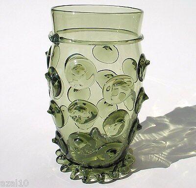 Waldglas Böhmen   Exklusive hochwertige  Handarbeit   Replika neu Krautstrunk