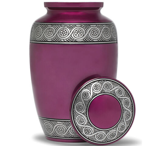 Cremation Urn for Human Ashes | Funeral Urn for Adults Remains Velvet Bag- Purpl