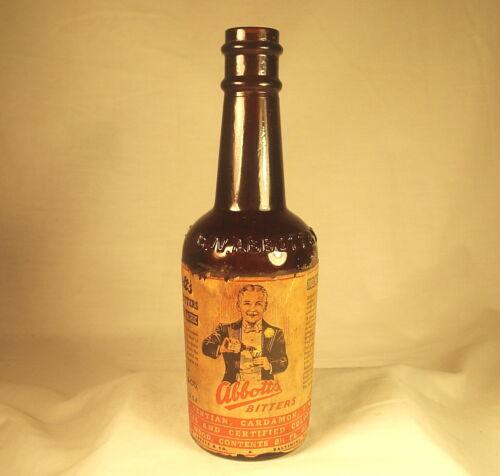 Antique C. W.  Abbott Bitters Bottle 8 1/2 Ounce Since 1872 Baltimore RARE