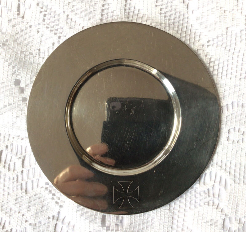 1906 Walter Keith Solid Silver Paten Holy Communion Wafer Plate