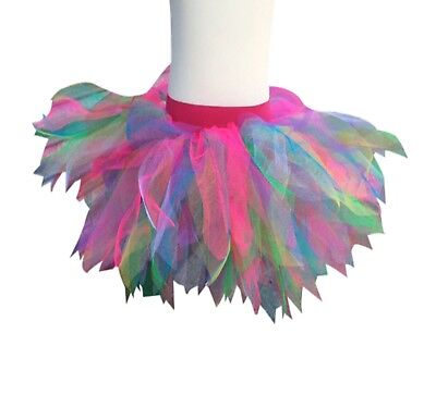 NEON TUTU RAINBOW 80S FANCY DRESS PARTY COSTUME FUN RUN DANCE 80'S