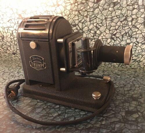 Vintage Noris Trumpf Slide Projector movie film WWII 1940