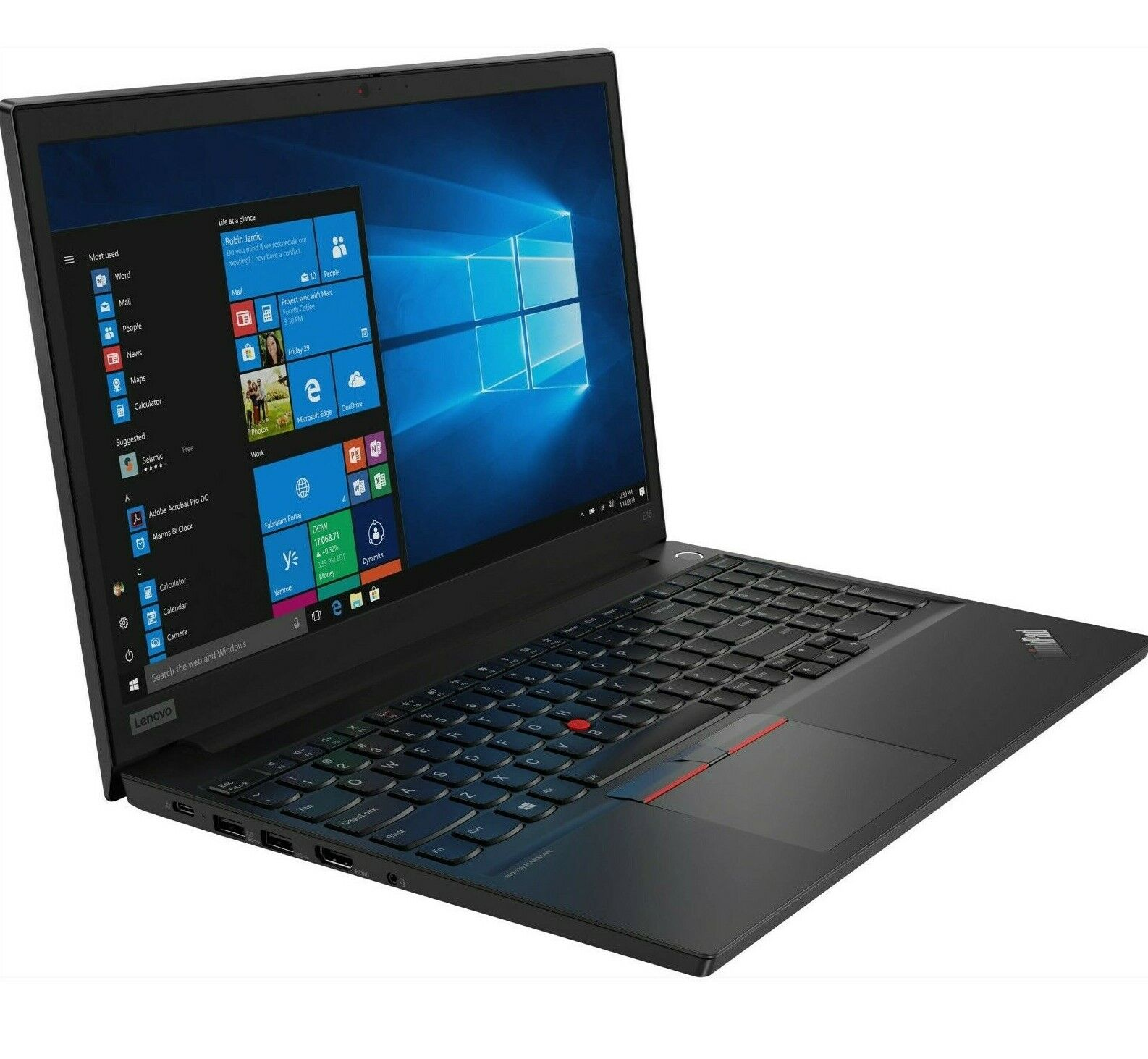 "Laptop Windows - Lenovo ThinkPad E15 Laptop 15.6"" FHD Core i5-10210U 8GB 256GB SSD Windows 10 Pro"