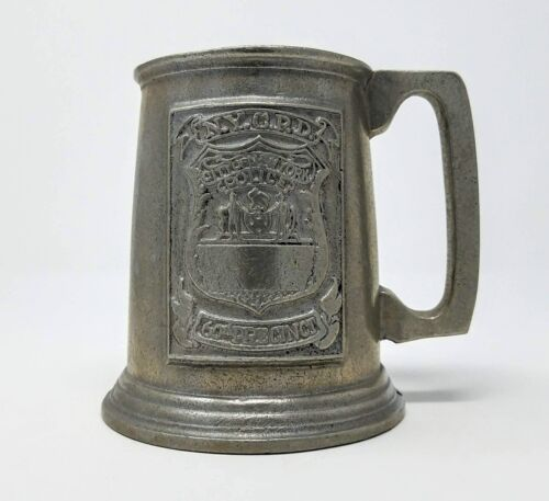 Vintage - NYCPD - City of NY 60th Precinct Mug - Wilton Armetale Pewter Stein