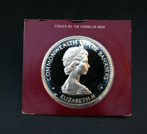 1973 INDEPENDENCE OF THE BAHAMAS 10 DOLLAR  PROOF SILVER COIN