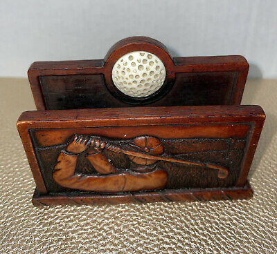 Enesco Business Card Holder Stand Desk Display Golf Gifts Decors