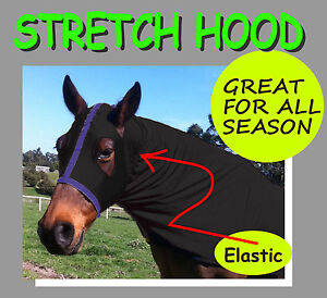 COMFORT~STRETCH~SIZE L~HORSE HOOD.BLACK COLOUR