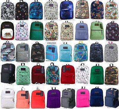 JANSPORT SUPERBREAK BACKPACK 100% AUTHENTIC SCHOOL BAG,BLACK,RED,GREY,BLUE,WHITE