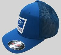 2fcb5f00 New with tags USPS United States Postal Service Royal Blue Flexfit Mesh Cap/ Hat by Yupoong + Free shipping