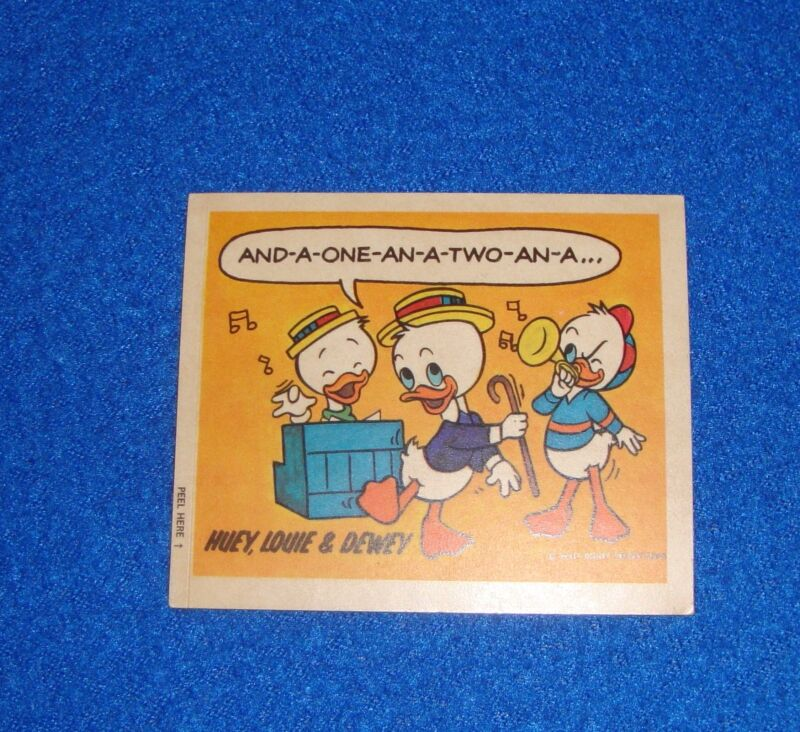 Vintage Disney Huey, Louie, & Dewey Sticker Unused