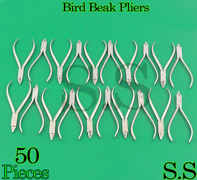50 Orthodontic Bird Beak Plier Loop Forming Light Wire Bending Dental
