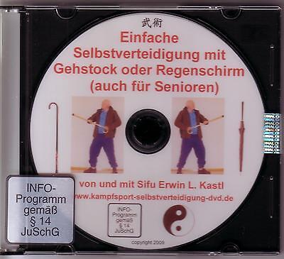 DVD Selbstverteidigung mit Gehstock Spazierstock Regenschirm auch für Senioren