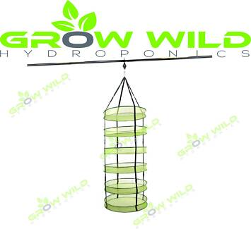 Extra Large Hanging Fodable Herb Dry Rack - 6 Tier with bag