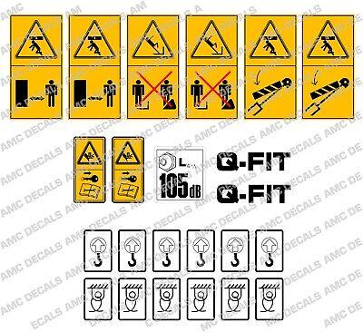 Jcb Telehandler Loadall Safety Warning Decal Sticker Set