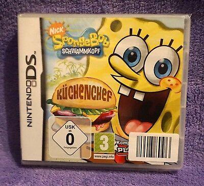 f: Küchenchef für Nintendo DS, NEU und noch eingeschweißt (Sponge Bob Kuchen)