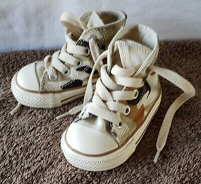 Converse All Star Infant Size 3 Dessert Camo High Top Shoes