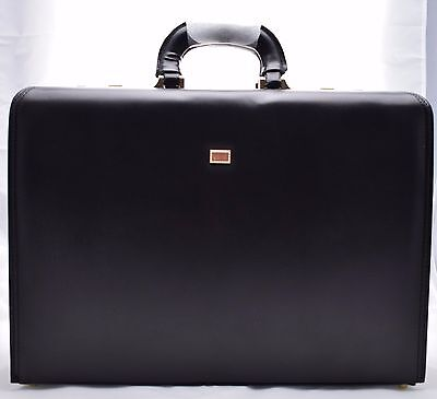 Executive Business Black Laptop Travel Work Flight Pilot Bag Case Briefcase 6925 ()