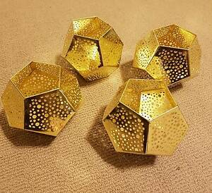 Gold Geometric Candle Holders Adelaide CBD Adelaide City Preview