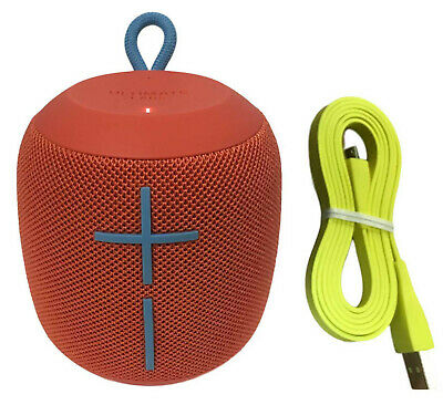 Ultimate Ears UE WONDERBOOM Wireless Waterproof Bluetooth Speaker Fireball Red for sale  Shipping to Canada