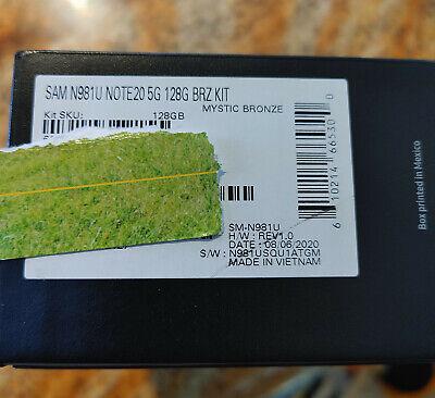 *In Hand* Samsung Galaxy Note 20 5G SM-N981U 128GB Bronze Smartphone T-Mobile