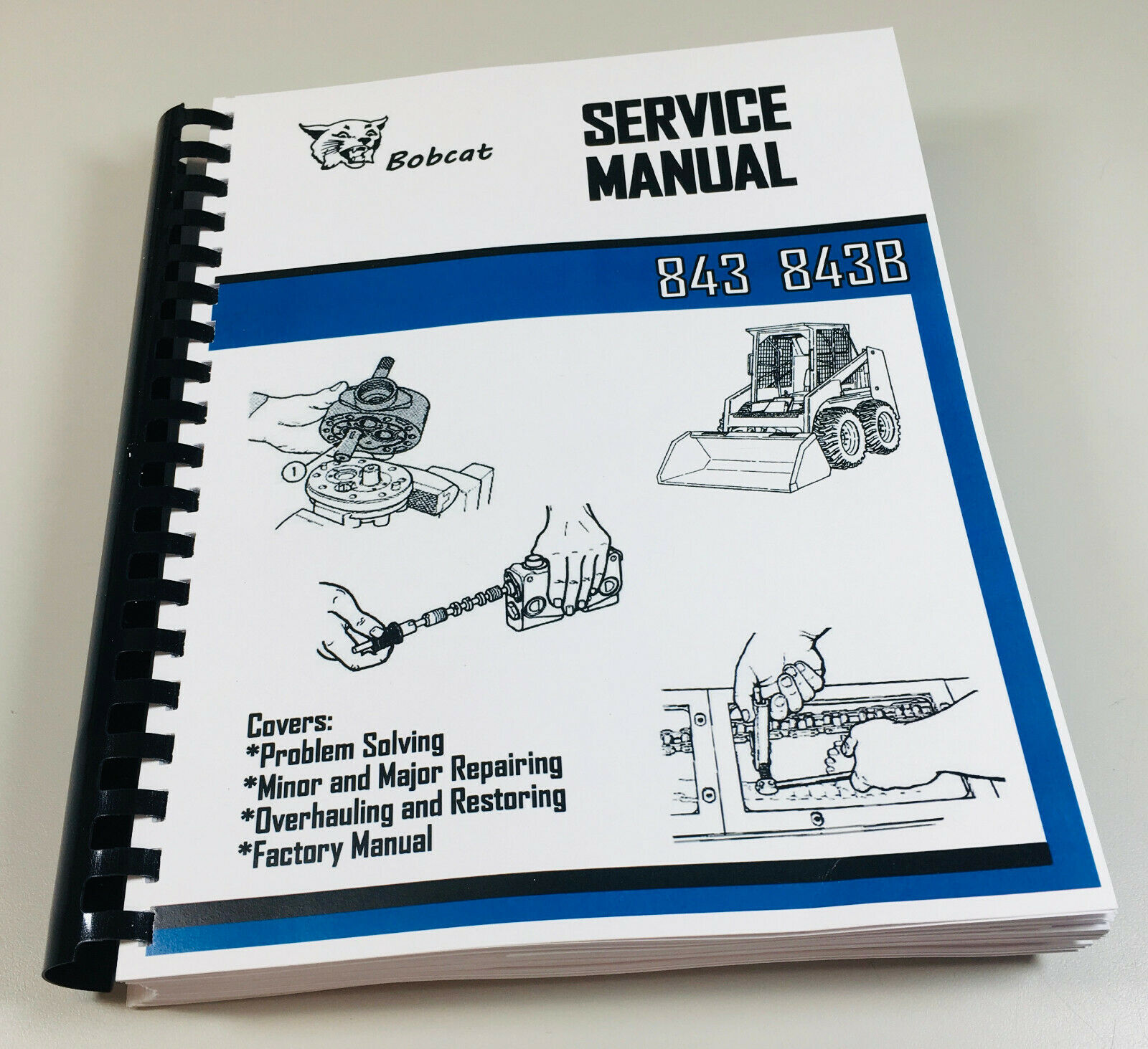 Array - details about bobcat 843 843b skidsteer loader service repair manual technical shop book  rh   ebay com