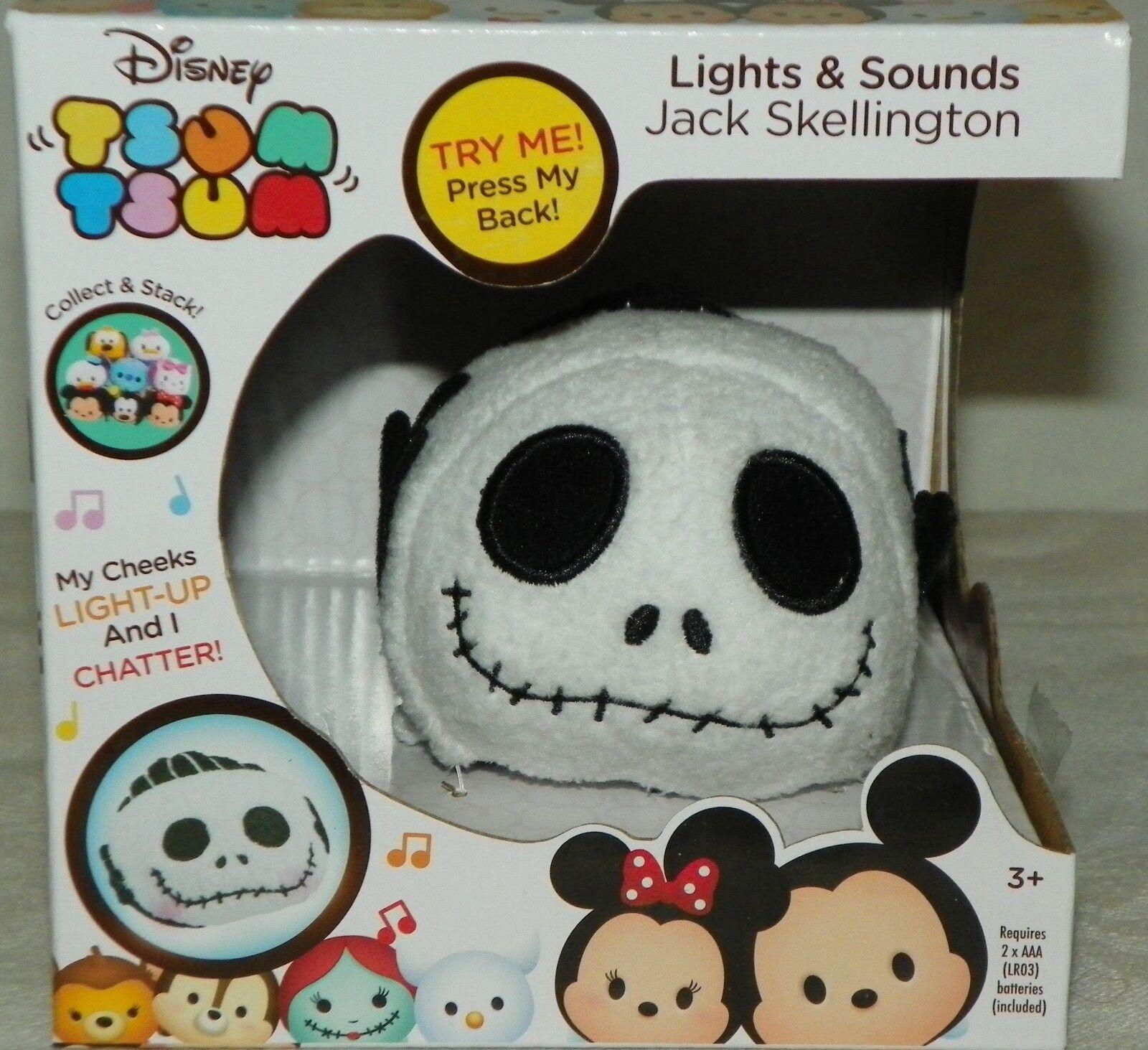 NEW RARE Disney Tsum Tsum Lights & Sounds Jack Plush Nightma