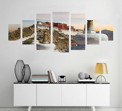 3D Mount Building 123 Unframed Print Wall Paper Deco Indoor AJ Summer ()