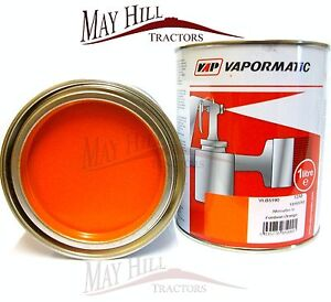 Fordson Orange Tractor Paint 1 Litre Tin - Vapormatic