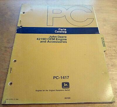 John Deere 4219d Oem Engine Accessories Parts Catalog Book Manual Jd Pc1417