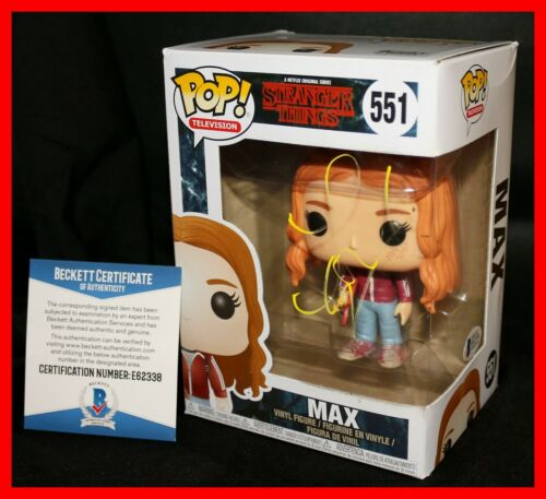 🔥 Sadie Sink Signed Autographed Max Stranger Things Funko POP Beckett PSA 🔥