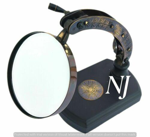 Vintage Adjustable Desk Magnifier Brass Magnifying Glass Vintage Collectibles