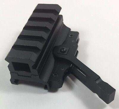 5 Slot Quick Release Medium Riser Co-Witness Optics Mount Weaver/Picatinny Rail
