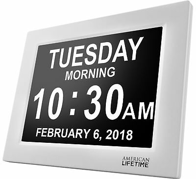 American Lifetime [Newest Version] Day Clock - Extra Large Impaired Vision