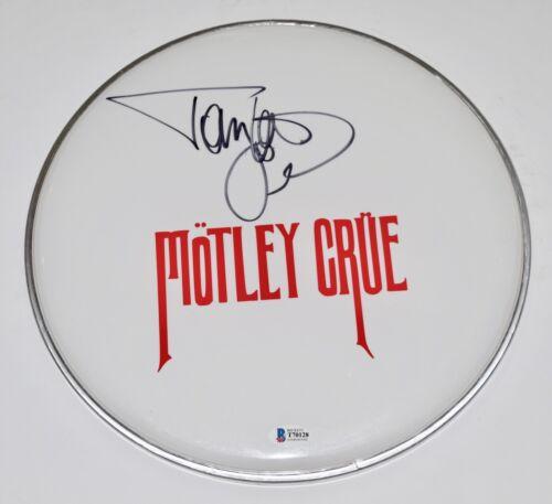 "Tommy Lee Signed Autographed 12"" Drumhead MOTLEY CRUE Beckett BAS COA"
