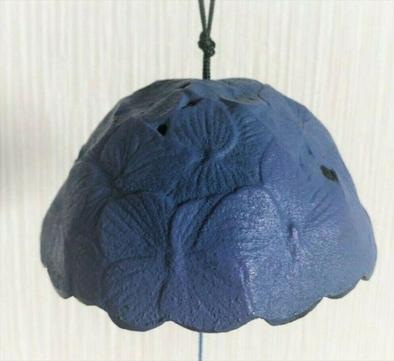 Furin Wind Chime Bell Nanbu Cast IronHandcraft hydrangea Flower Made in Japan