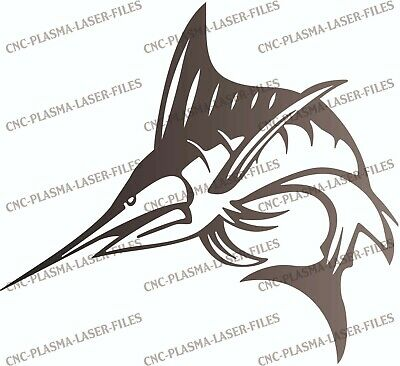 Fish Ocean Dxf Cnc Sign For Plasma Laser Waterjet Router Plotter Cut Ready File
