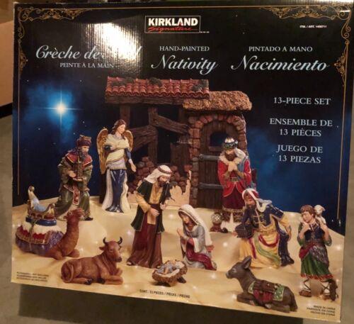 Kirkland Hand Painted Religious Nativity Village Set