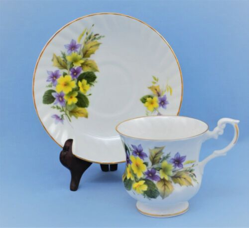 ROYAL DOVER BONE CHINA ENGLAND CUP AND SAUCER SET FLORAL