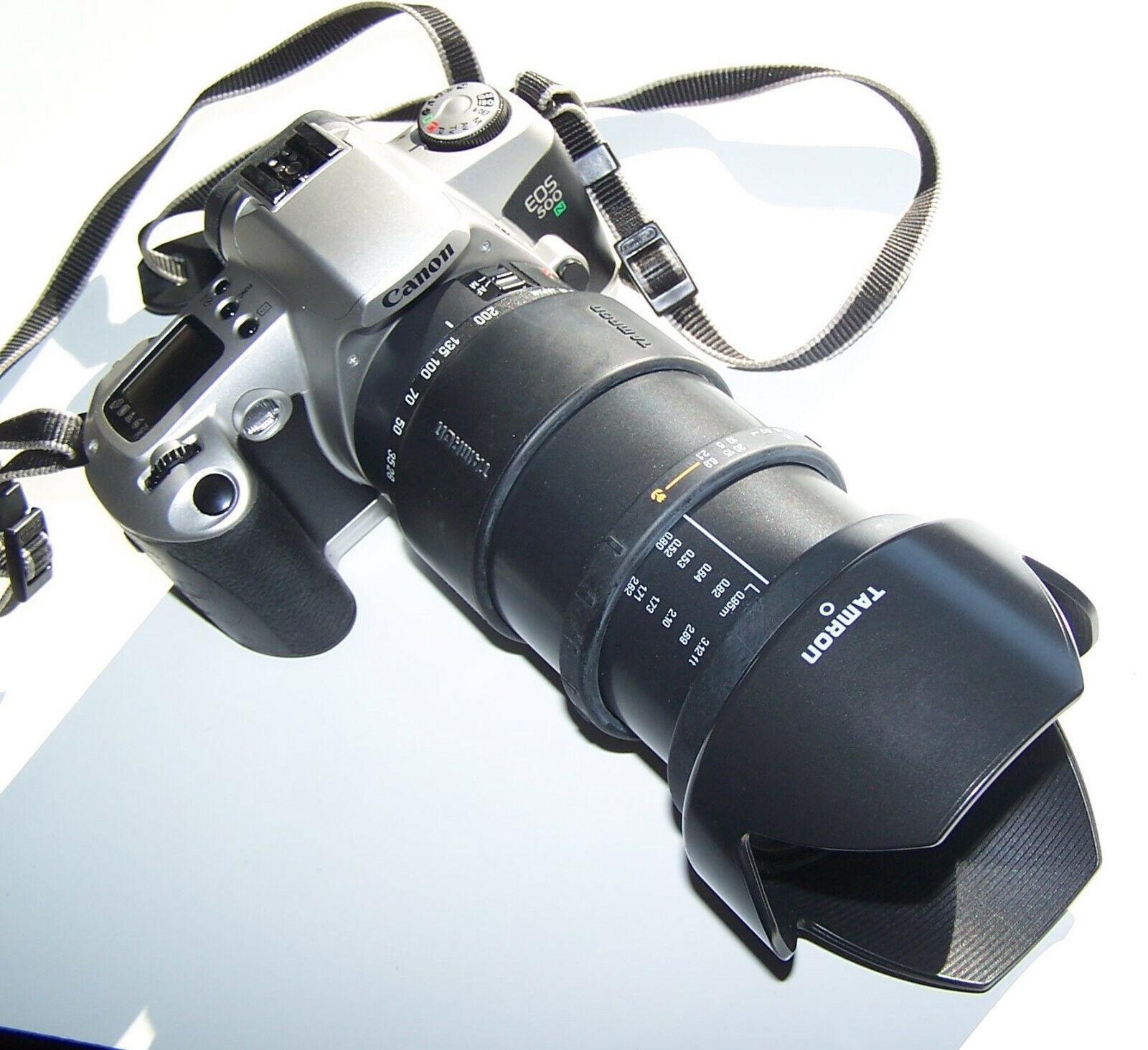 Canon EOS 500 N mit Tamron 28-200 mm und Zubehör || gepflegter Bestzustand