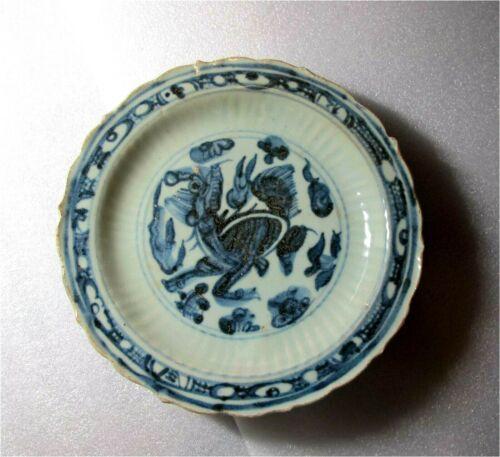 Antique Chinese Blue & white Porcelain Bowl Ming Dynasty Zhengde period 1500