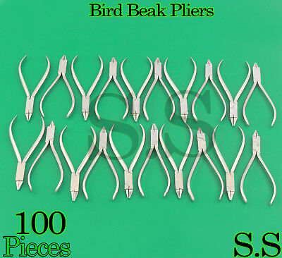 100 Orthodontic Bird Beak Plier Loop Forming Light Wire Bending Dental