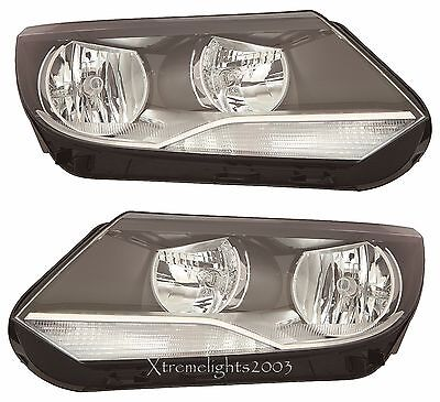 fit VOLKSWAGEN TIGUAN 2012-2017 HEADLIGHTS HEAD LAMPS LIGHTS HALOGEN PAIR SET