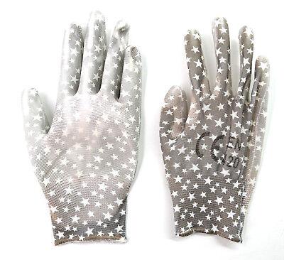 Gartenhandschuhe für Kinder STERNE grau weiss Kinderhandschuhe Handschuhe STERN ()