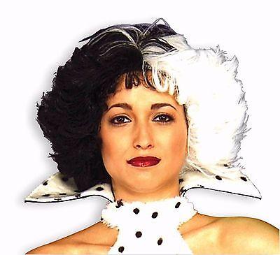 Dalmatian Dog Loving Diva Cruella De Ville Adult Wig Costume Accessory