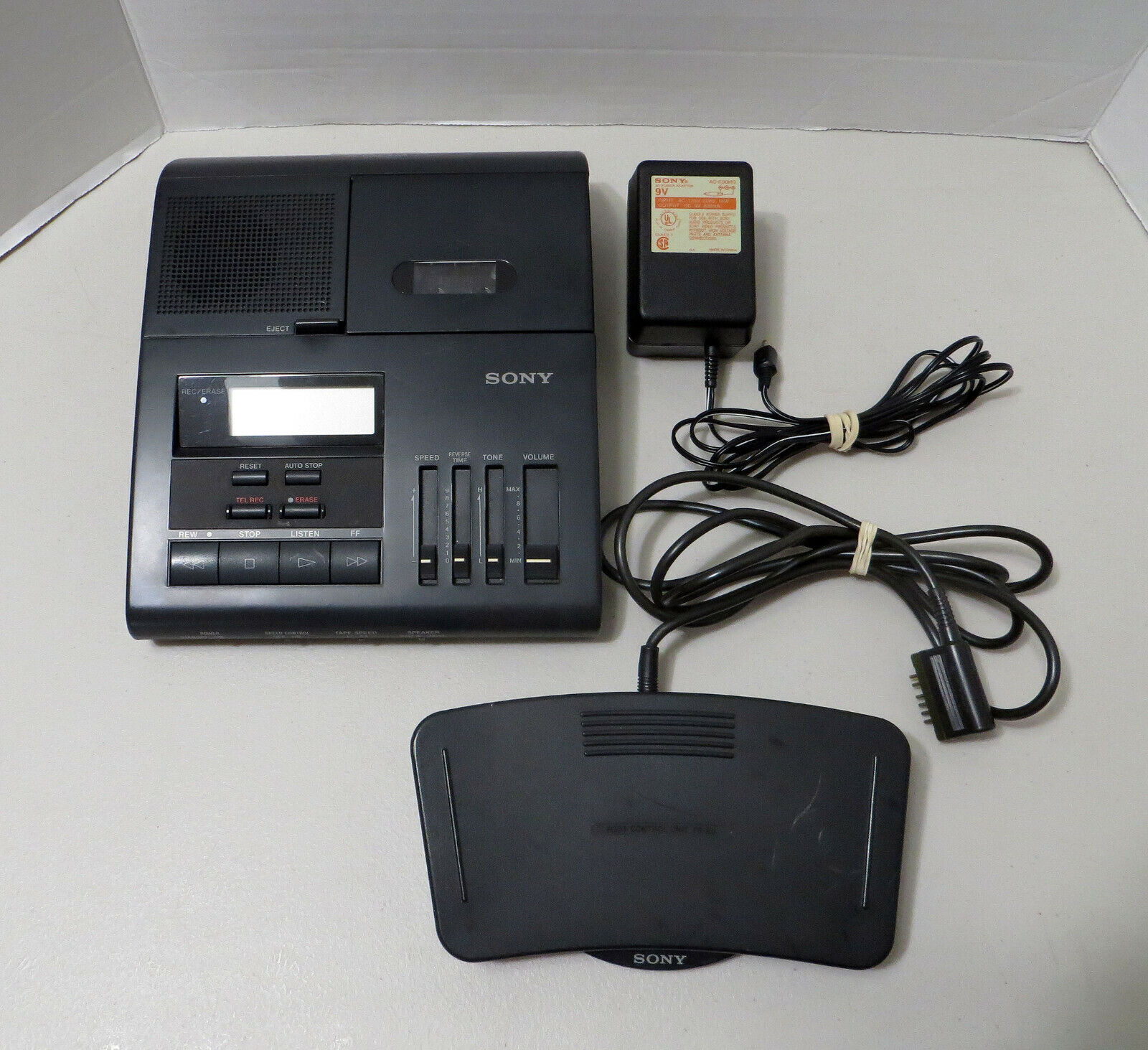 Sony BM-850 Microcassette Dictation Recorder With AC Adapter Foot Pedal - $99.99